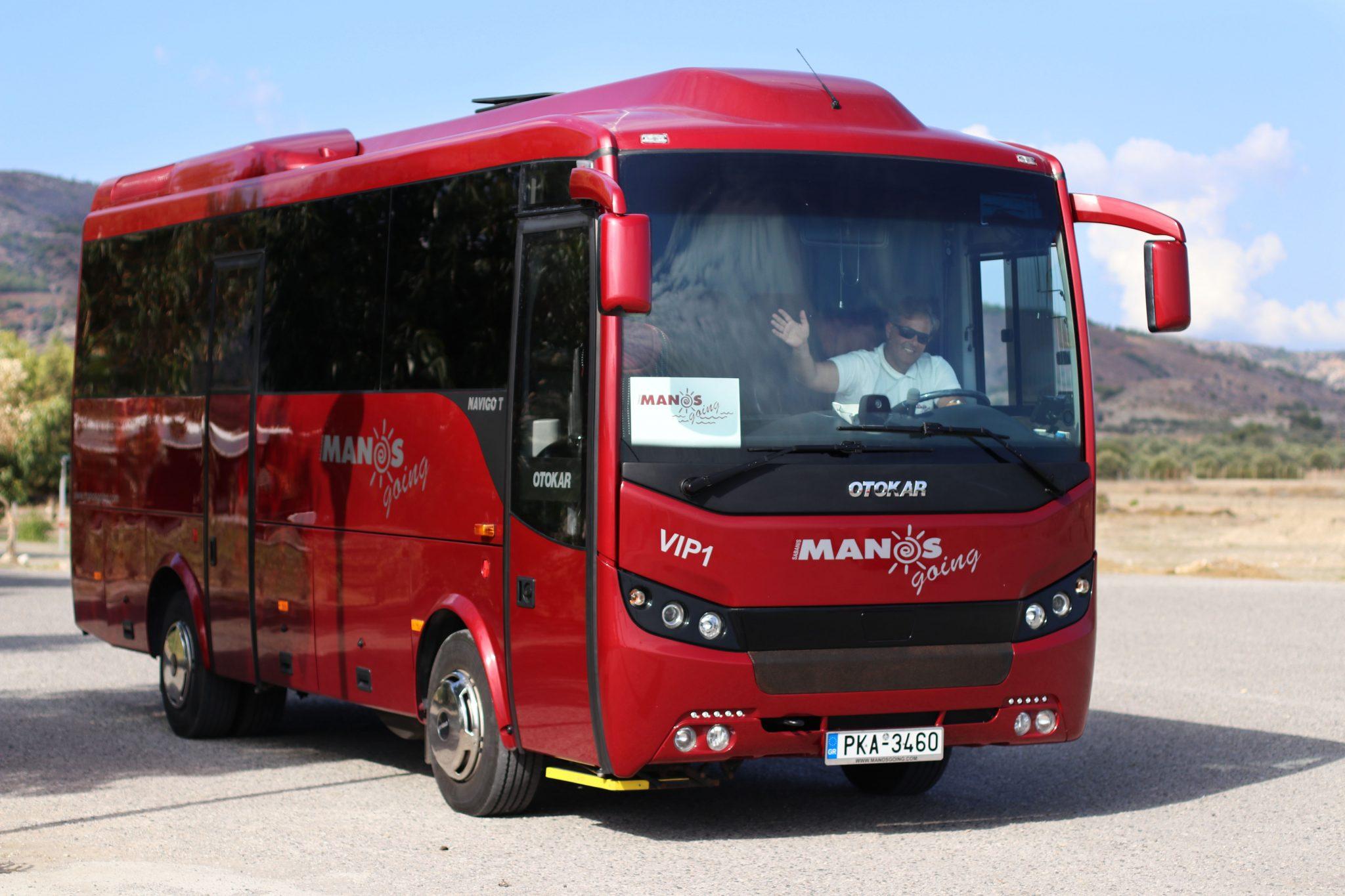 Manos Going red signature coach