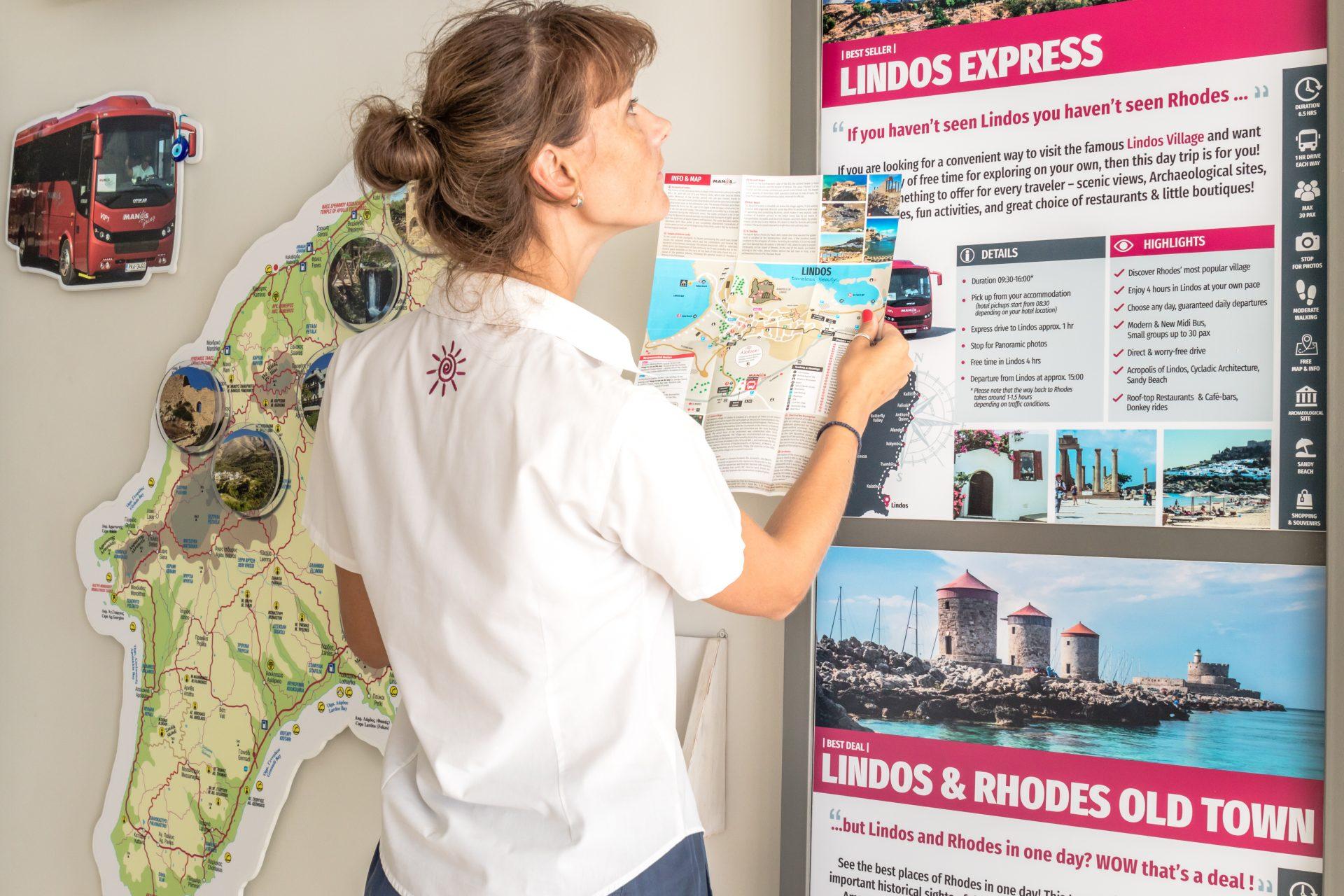 Lindos Express Lindos Tour Map