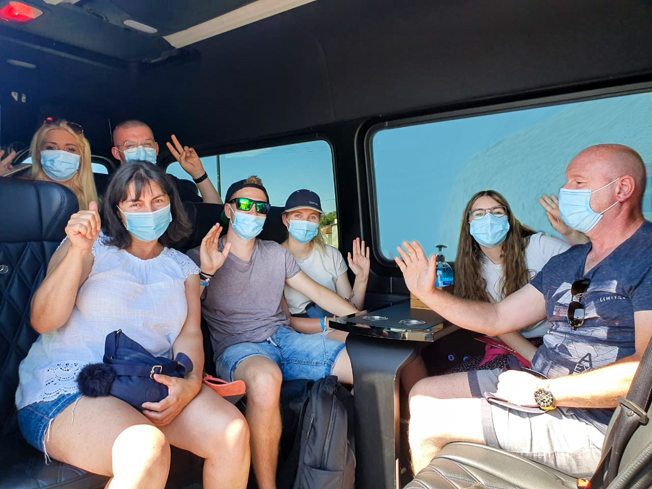 Rhodes Tours I Security measures in coach I Manos Going